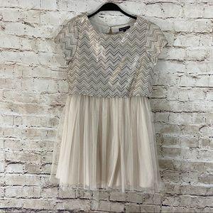 Sequin hearts girls short sleeve formal dress 14